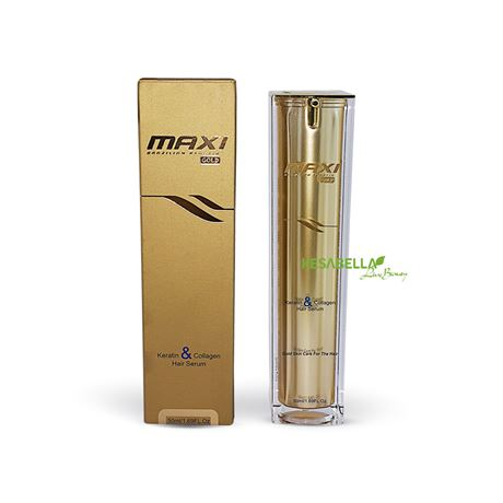 Maxi Gold hair serum with Keratin