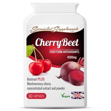 CherryBeet caps Montmorency cherry and beetroot formula